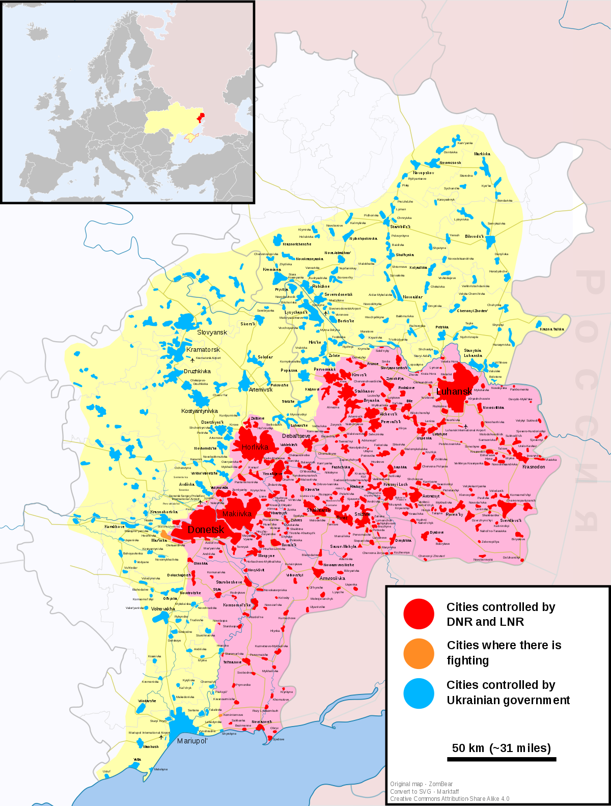 Optics of the Luhansk region: a selection of sites
